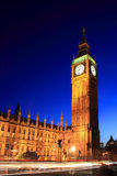 Big Ben of the Houses of Parliament at night Stock Photo