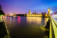 Big Ben and houses of parliament at night Royalty Free Stock Photography