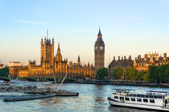 Big Ben. And the Houses of parliament panorama Royalty Free Stock Image