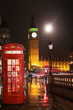 Big Ben and Houses of Parliament red phone booth Royalty Free Stock Photography