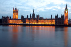 Big Ben and Houses of Parliament at sunset, Londo Royalty Free Stock Image