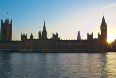 Big Ben. Houses of Parliament and Big Ben at sunset, London UK Stock Photography