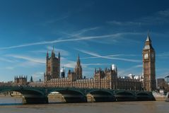 Big Ben. Houses of Parliament and Big Ben at sunset, London UK Stock Images