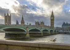 Big Ben and Houses of Parliament at sunset, London Royalty Free Stock Photography
