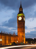 Big Ben and houses of Parliament. Thames embankment Royalty Free Stock Photography