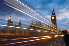 Big Ben and houses of Parliament. Thames embankment Royalty Free Stock Image