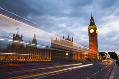 Big Ben and houses of Parliament. Thames embankment Stock Photography