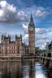 Big Ben, Houses of Parliament, Thames, London, UK Royalty Free Stock Photography