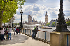 Big Ben and Houses of Parliament on Thames river Royalty Free Stock Photo