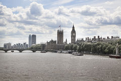 Big Ben and Houses of Parliament on Thames river Royalty Free Stock Photography