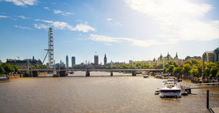 Big Ben and Houses of Parliament on Thames river, London Royalty Free Stock Photo