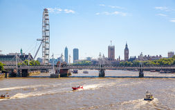 Big Ben and Houses of Parliament on Thames river, London Stock Image