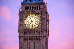 Big Ben and Houses of parliament at twilight. In London, UK Stock Photography