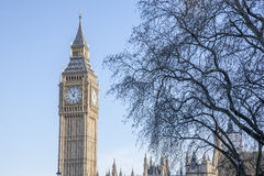 Big Ben and the Houses of Parliament; Westminster; London Royalty Free Stock Images