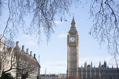 Big Ben and the Houses of Parliament, Westminster, London Stock Image