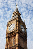 Big Ben. Of the Houses Of Parliament in Westminster, London, England, UK which was built on the site of the Royal Palace Of Westminster, in a Gothic style Stock Photography