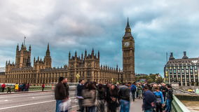 Big Ben And The Houses Of Parliment. 4k Ultra HD Time-Lapse Big Ben stock video