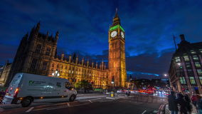 Big Ben And The Houses Of Parliment. 4k Ultra HD Time-Lapse Big Ben stock footage