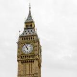Big Ben hus av parlamentet - som isoleras över vit Stora Ben Pan Arkivbilder
