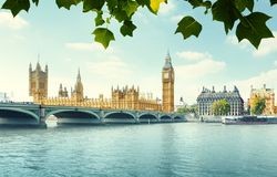 Big Ben i domy parlament, Londyn Zdjęcia Royalty Free