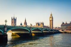Big Ben i domy parlament, Londyn Zdjęcie Stock
