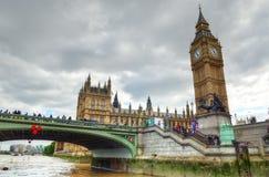 Big Ben i domy parlament, Londyn, UK Zdjęcia Royalty Free