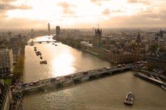 Big Ben i domy parlament, Londyn, UK Obrazy Royalty Free
