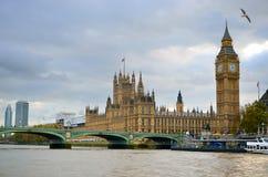 Big Ben i domy parlament, Londyn, UK Obraz Royalty Free