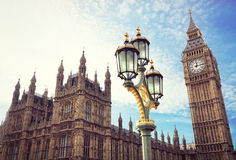 Big Ben i domy parlament w Londyn Obraz Stock