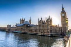 Big Ben i domy parlament w Londyn Zdjęcia Stock