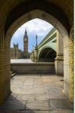 Big Ben i domy parlament w ramie, Londyn Zdjęcia Stock