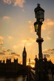 Big Ben i domy parlament w sylwetce Obraz Stock