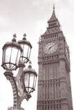 Big Ben i Lamppost, Londyn fotografia royalty free