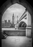 Big Ben i ram royaltyfria foton