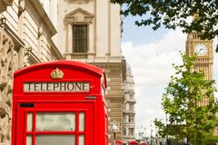 Big Ben i telefon obrazy stock