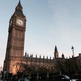 Big Ben i vinter Royaltyfria Foton