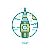 Big Ben icon, London Royalty Free Stock Photo