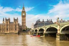 Big Ben, il Parlamento, ponte di Westminster a Londra fotografia stock libera da diritti