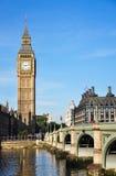 Big Ben & il ponte Fotografia Stock