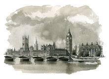 Big Ben Illustration royalty free illustration
