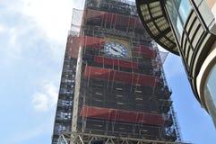 Big Ben im Bau im Jahre 2019 lizenzfreie stockfotos