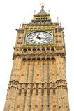 Big Ben isolated against white Stock Photo