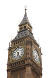 Big Ben isolated on white Royalty Free Stock Photography