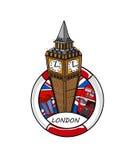 Big Ben karikatyr Royaltyfri Fotografi