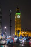 Big Ben la nuit, Londres, R-U Photographie stock libre de droits