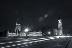 Big Ben, le Parlement et la nuit Photos stock