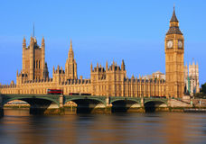 Big Ben in Londen Stock Afbeelding