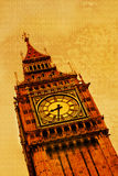 Big Ben, London. Vintage illustration Royalty Free Stock Image