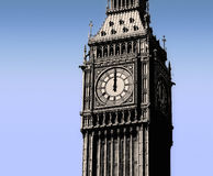 Big Ben, London, 12 o'clock Stock Images