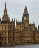 Big Ben London. A view of Westminster in London with Big Ben and the Themes river stock photos